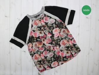 Женская футболка с розами Atmosphere, р. S-M    Длина: 60 см Рукав: 32