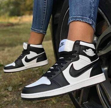 Crno bele Nike Jordan🥰Nepromocive, dublje, prave jesenje :)Unisex