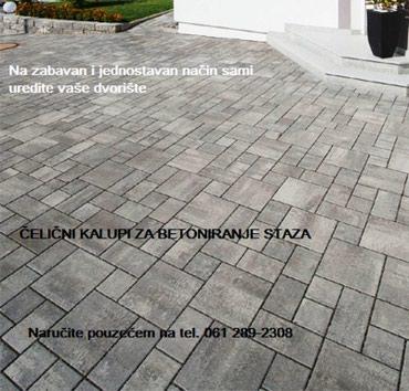 Praktični kalupi za betoniranje staza, dvorišta, parkinga, terasa, - Beograd