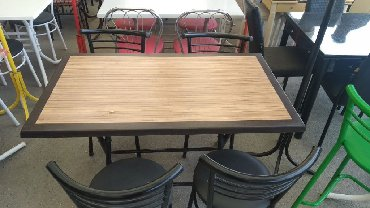 деревянный кухонный стол в Азербайджан: СТОЛ И СТУЛЬЯ С ДОСТАВКОЙ В АДРЕС.РАЗМЕР 120Х70 СМ.ОДИН СТОЛ-240