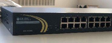 poe switch в Кыргызстан: Switch 24 ports Rubytech ES-2226C24-портовый управляемый L2 Plus