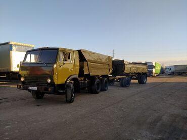вагончики на колесах в Кыргызстан: Продаю КамАЗ с прицепом. В идеальном состоянии. После капитального