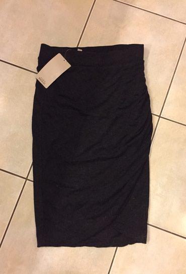 Ζara μάλινημαλακό ύφασμα, φούστα τύπου φάκελος με άνοιγμα μπροστά