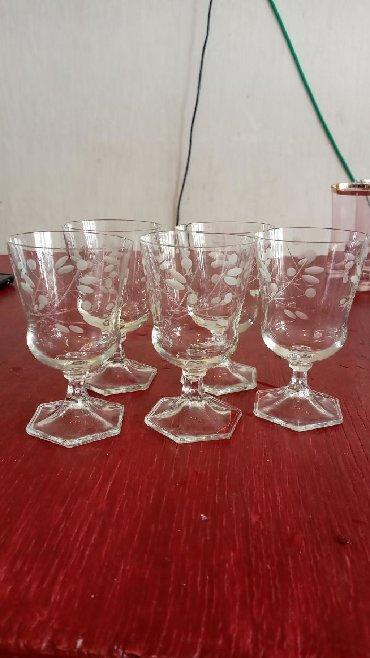 Свадебные бокалы ручная роспись - Кыргызстан: Продаю советские бокалы 5 шт