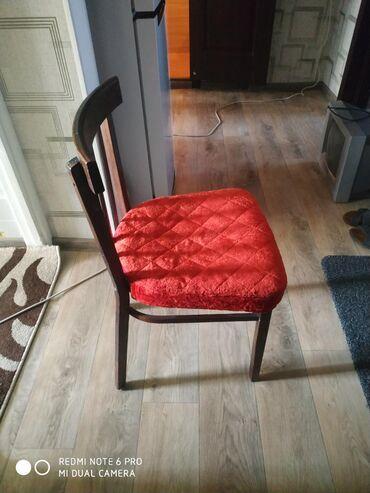 Комплекты столов и стульев в Кыргызстан: Деревянные стулья 6 штук по 350, если по одному то 500 сом