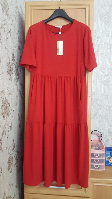 Платье трикотаж .50 разм .  Карманы . в Бишкек
