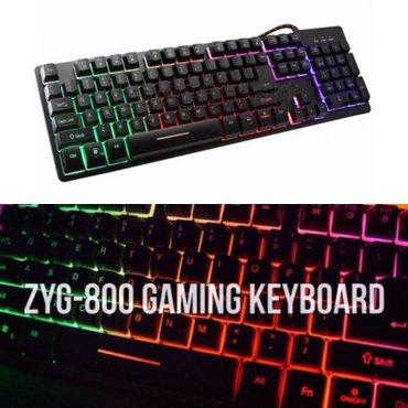 Bakı şəhərində Zyg 800 isiqli oyun klaviaturasi. Gaming keyboard gamer. Istifadecinin