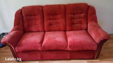 раскладной диван,обивка-велюр,фирма Диван-диваныч в Бишкек