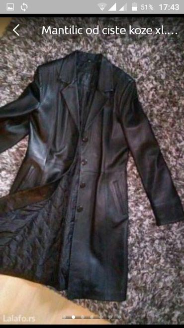 Kožni mantil XL odgovara L, XL *NOVO* - Vranje