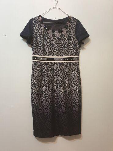 Продаю женское платье Турция, размер 42 (L 48-50), цвет темно-синий, в