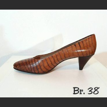 Kozne,damske cipele,imitacija kroko printa,velicina 38 u super stanju. - Beograd