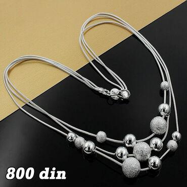 Ogrlica sa kuglama - Srebro 925 Poseduje žig