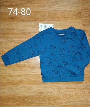 Deblji duksici 62 68 74 - plavi 74 80 - teget