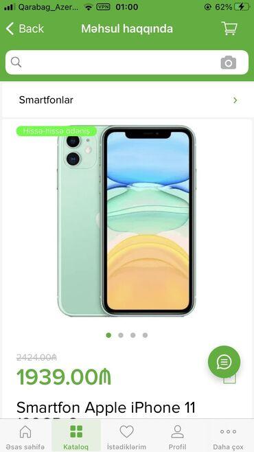 apple 6 - Azərbaycan: Yeni IPhone 11 128 GB Mavi