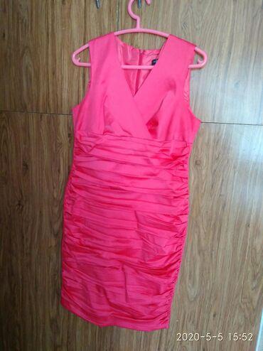 Продается платье, размер 42, произ-во Турция, цвет розовый, б/у