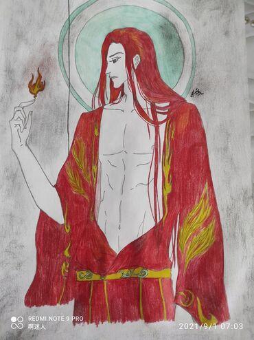 8 elan | XIDMƏTLƏR: Картина для любителей мистики и фентези.Раскрашено цветными