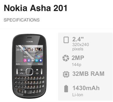 Elektronika - Lebane: Nokia Asha 201 Radi samo treba nova baterija