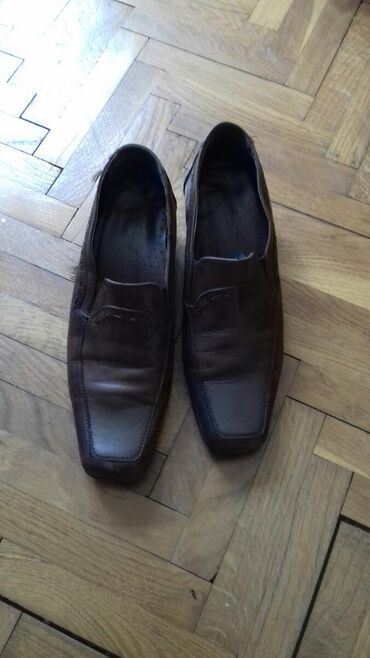 Kozne cipele braon boje vel. 38. Par puta obuvenebez ostecenja