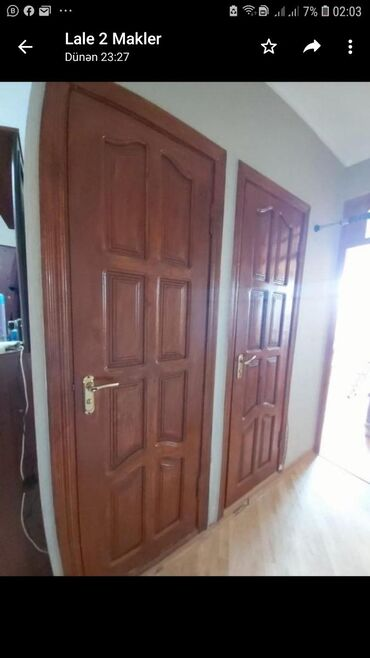 в Остров Хазар: Qapi satilir 8 ededdir 70 manata.2.04-90otaq qapıları.hamam,tualet