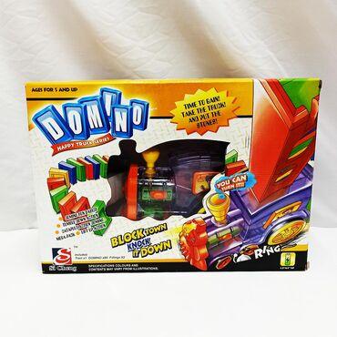 Детская настольная игра - поезд ставящий домино!!⠀Размер коробки в