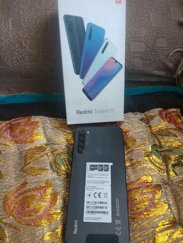 Электроника - Кызыл-Адыр: Xiaomi Redmi Note 8   32 ГБ   Черный   Сенсорный, Отпечаток пальца, Две SIM карты