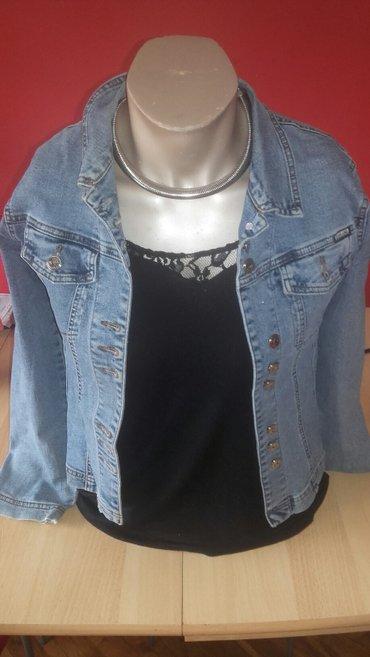Ramena-cmduzina-rukava - Srbija: Jeans jakna, veličina l. Dimenzije: ramena 43, poluobim grudi 46