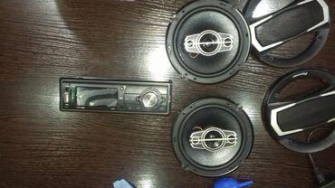 Автоэлектроника - Кыргызстан: Продаю магнитолу с динамиками. Новые. Китай.пульт. USB.блютуз.fm