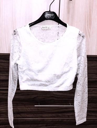 Bela bluza/top, S vel. Jednom nosena, kao nova, bez oštećenja. Za - Kragujevac