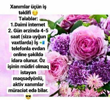 İş - Azərbaycan: Şəbəkə marketinqi məsləhətçisi. İstənilən yaş. Natamam iş günü