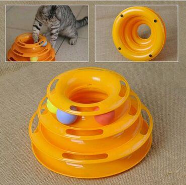 Продаю интерактивную игрушку для кошек. Абсолютно новая, оранжевого