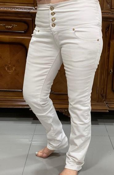 женские джинсы армани в Кыргызстан: Джинсы белыеженские,размер 48-50