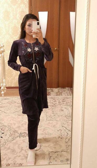 узбекские платья со штанами из штапеля в Кыргызстан: Халаты со штанами, ткань бамбук, 46-52 размер, не маломерка