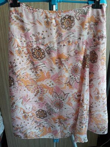 Suknja,pastelnih boja,postavljena,rajfeslus sa steane,struk poluobim