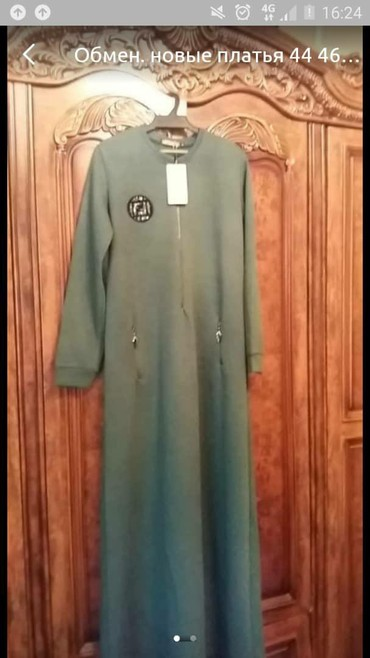 трикотаж платье в Кыргызстан: Продаю трикотажное платье,44 и 46размер. Удобное,теплое