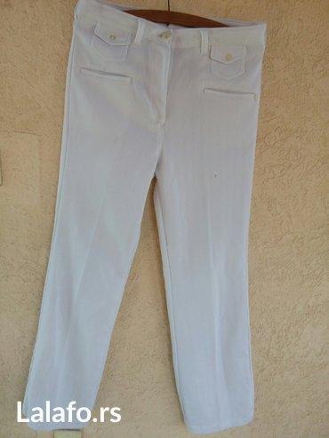Bele letnje pantalone sa elastinom - Krusevac