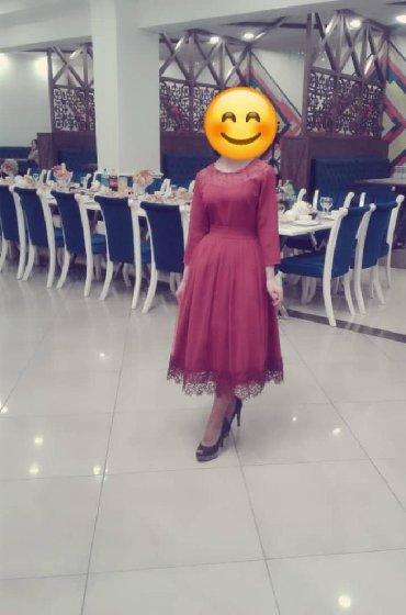 бордовый замшевый в Кыргызстан: Платья 42-44размер бордовый свет состояние хорошая