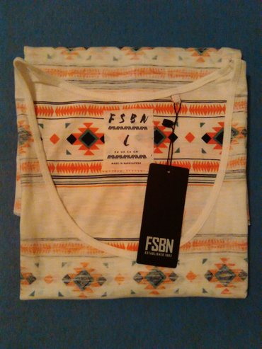 Muska majica bez rukava,bela sa narandzastim prugama,marka FSBN New - Nis