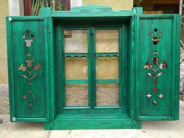 Kuća i bašta - Backa Topola: Izrada starinskih prozora od camovine, sa zaluzinom i bez. Radi se od