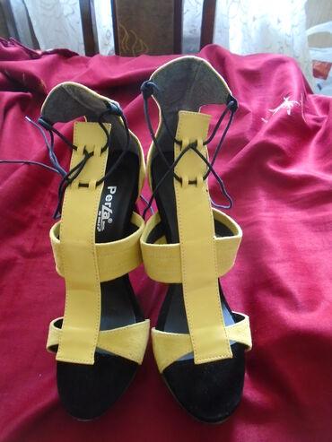 Nove sandale La Perla, broj 40, kombinacija prevrnute i glatke kože