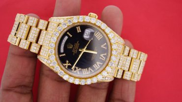 Rolex president Day Date 2 41 mm yellow gold watch ICED out 24 carat σε Γλυφάδα
