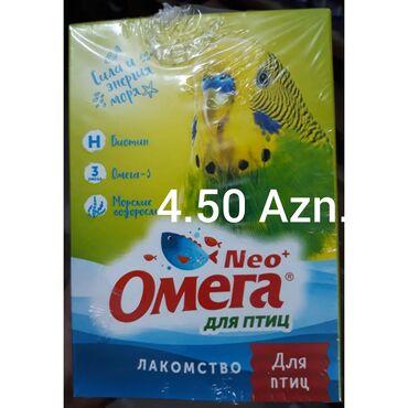 """yuva - Azərbaycan: Tutuquşu valnisti üçün OMEQA vitamini bir paçkası 4.50 Azn.""""YUVA"""""""