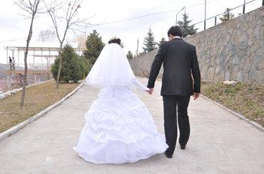 Продам свадебное платье 42-44 размер. В в Бишкек