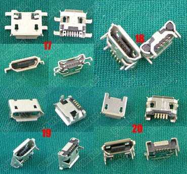 Huawei gx8 - Srbija: Mikro USB Konektori tip B zenski 5 pin 4 i sa 2 stope Za Samsung telef