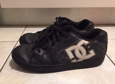 DC Boys shoes . Size 37 . Μαύρα DC παιδικά δερμάτινα παππούτσια