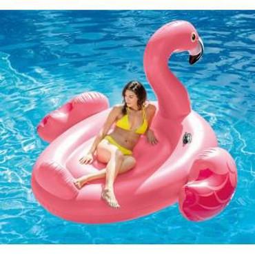 """Hava döşəməsi - Azərbaycan: Şişmə göl adası """"Big Flamingo"""" Intex 56288 isti yay günündə"""