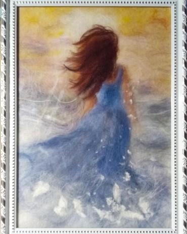 сюрреализм-картины в Кыргызстан: Картины шерстью!! в рамке под стеклом! принимаем заказы на другие