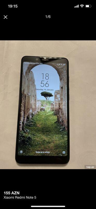 akıllı cep telefon modelleri - Azərbaycan: İşlənmiş Xiaomi Redmi Note 5 64 GB qara