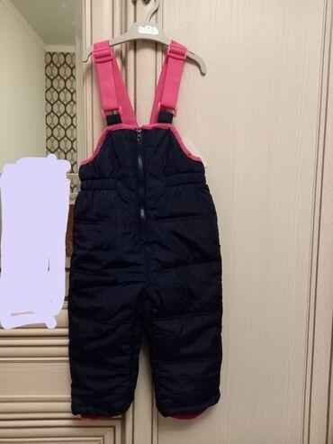 Новый теплый полукомбинезон зимний для девочек. Размер 92. Своя цена