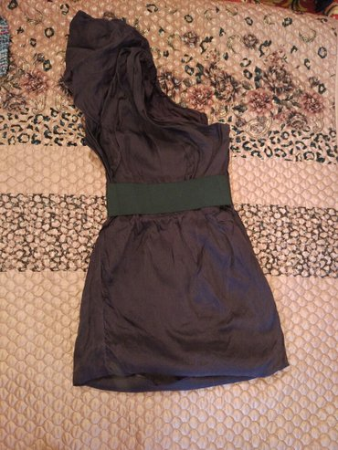 Платье коктейль  на одно плечо. Бордовая. Состояние отличное. Качество в Бишкек