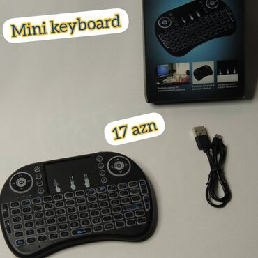 Klaviaturalar - Hövsan: Mini klaviatura Sensor panel simsiz multimedia klaviaturası ilə cihaz